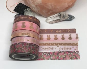 """SUB BOX Simply Gilded Washi, Exclusive Design, VERY Limited samples, 24"""" samples"""
