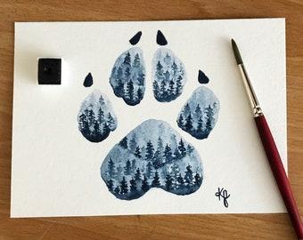 Original-Forest Wolf Print