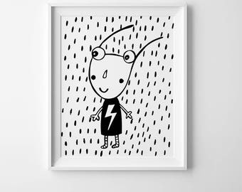 Scandinavian art, monochrome nursery prints, mini learners, lightning bolt, best selling items, prints for nursery wall art cute nursery art