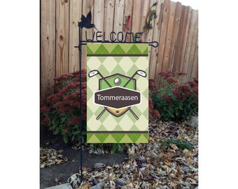 Personalized Golf Door Or Garden Flag, Wall Hanging #1050