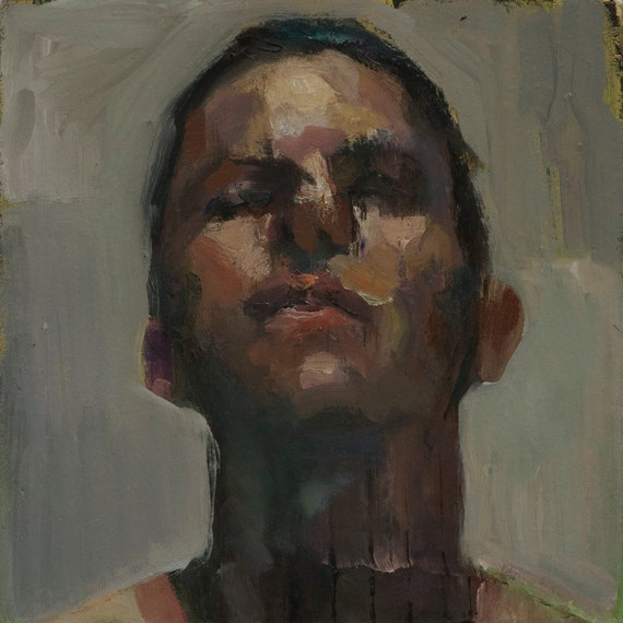 Canon (Sixty-fifth), 7x7in Oil Painting