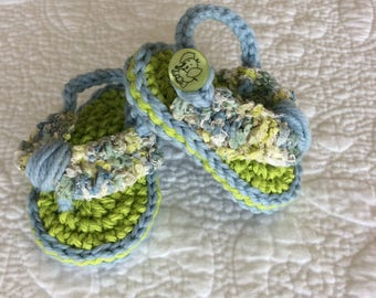 Blue and Green Baby Sandals