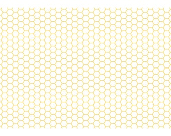 Yellow Honeycomb A4 Card – A Busy Bee Makes Time for Tea