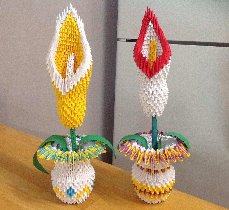 Paper Origami Flower Vase Selol Ink