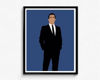 Don Draper Mad Men Poster- Minimalist Wall Art, TV