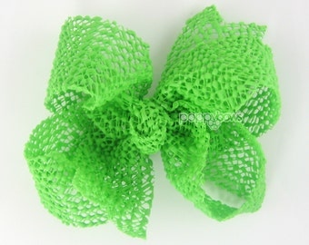 Reserved for Rachel - 5 Inch Waterproof bows in white, light pink, hot pink, yellow, and green on regular alligator clips