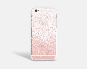 White Henna iPhone 7 Case Clear iPhone 8 Case Clear iPhone 7 Plus Clear Case Gift for Her iPhone X Case Samsung Galaxy S8 Case