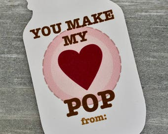 VALENTINE TAG - you make my heart pop