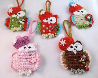 Owl Christmas ornament, Christmas hanging decoration, christmas owl. Christmas decoration, Christmas ornament,
