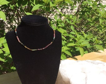 Handmade Tourmaline choker necklace