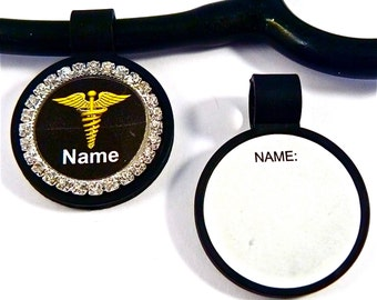 Stethoscope ID tag Bling clam shell. ID stethoscope tag charm, Medical, Nurse,Paramedic,Doctor,Veterinarian,Tech,RN,