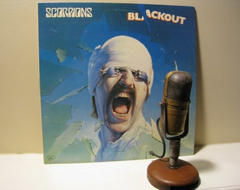 "Scorpions Vinyl Record Album 1980s Classic Rock LP,""Blackout"" (Scarce 1982 Rca RECORD CLUB version w/""No One Like You"") - Vintage Vinyl"