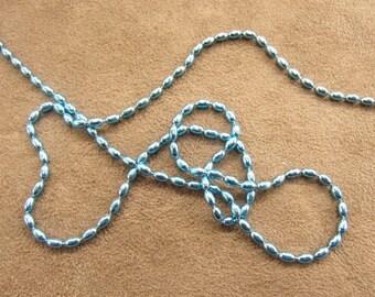 METAL chain - 0.2 cm - Blue