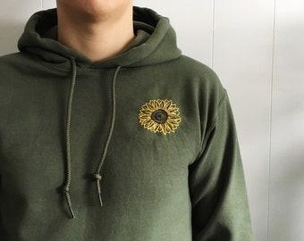 Sunflower Embroidered Hoodie