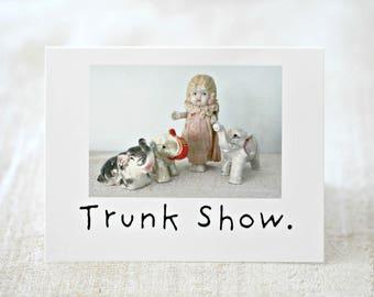 "Funny Elephant Card ""Trunk Show"" Adventures Claudia Porcelain Doll Stationary (1)"