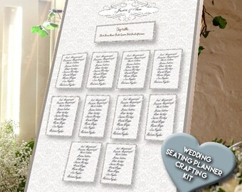 Classic Crafting Wedding Table Planner. Beautiful Wedding Venue Decoration, DIY Seating Plan, Perfect Table Plan for Weddings.