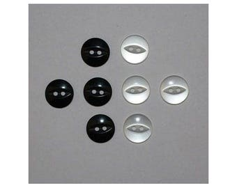 40 x buttons basic 14 mm 2 holes set A - 000795