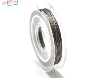 File wired, 0.45 mm (coil 10 m), color: steel