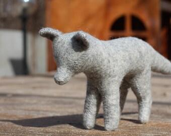 Gray Wolf //Stuffed Toy//Wolf Stuffed Animal //Stuffed Wolf //Woodland Animal //Waldorf Wolf