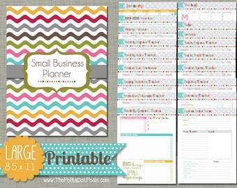 "Small Business Planner {Printable} Set - Sized Large 8.5"" x 11"" PDF"