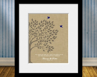 All That We Are Parents Thank You Gift, Parent's Wedding Day Gift, Bride's Parent Gift, Groom's Parent Gift, Wedding Tree Print