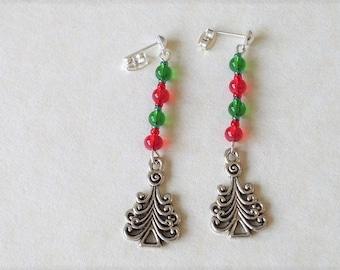 Red & Green Christmas Earrings