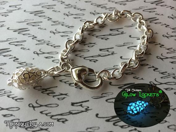 Mermaid Teardrop Glow Locket ® Charm Bracelet