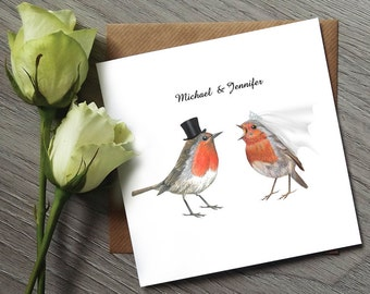 Robin Wedding Invitations - Sample - Robin Wedding Invitation Sample - Robin Wedding Invites Sample - Bird Wedding Invites - Bird Wedding