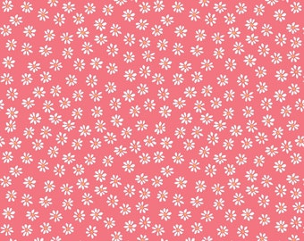 Organic DOUBLE GAUZE Fabric - Monaluna Bloom - Daisies Double Gauze
