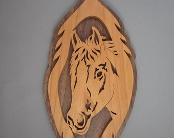 Horse Head In A Feather