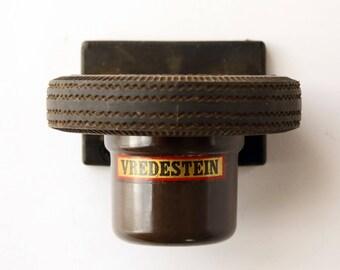 Rare Vintage Vredestein Tires Advertising Bakelite Ashtray