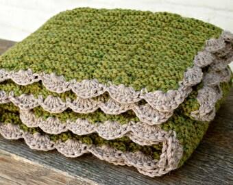 Baby Blanket wool knitted, wollen blanket, wool