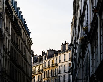 Montmarte Sunset - Paris Photography - Wall Art Print - Paris Decor - Architecture - Fine Art Photography  - Montmarte Sunset - 0090