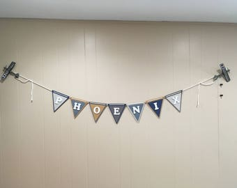 Customized name banner