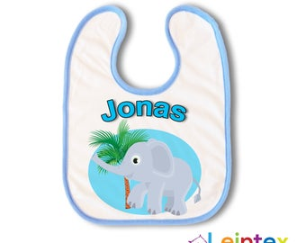 Bib Boy with name Elephant Baby bib No148