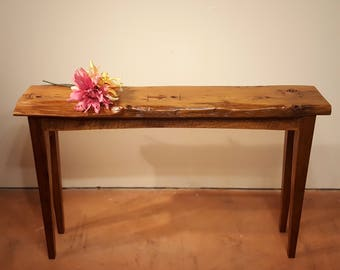 Narrow Console Table, Reclaimed Wood Table, Sofa Table, Entryway Table, Salvaged Wood, Rustic Table, Sideboard, Natural edge Table