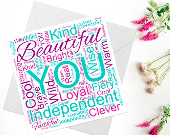 Card for Friend, Encouragement Card For Friend, Inspirational Quote Card, Just Because Card, Thinking of You Card, Confidence Card