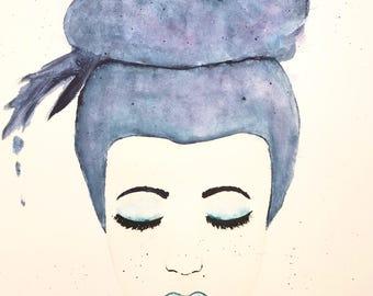 Original watercolor painting 11 x 14 custom COMPLICATED 140 lbs watercolor paper