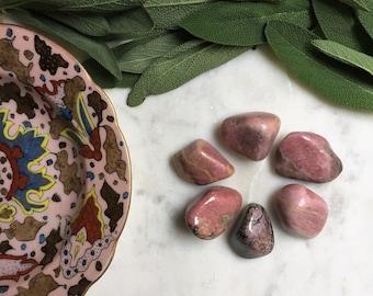 Parcel of Tumbled Rhodonite