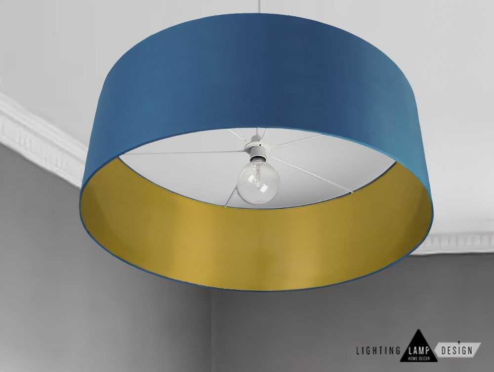 Mid modern lamp shade navy blue ceiling lamp shade drum zoom aloadofball Image collections