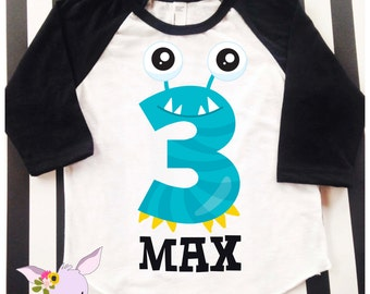 Monster Birthday Party Little Monster First Birthday Second Birthday Monster Birthday Shirt Birthday Monster Shirt 1 2 3 4 5 Birthday Shirt