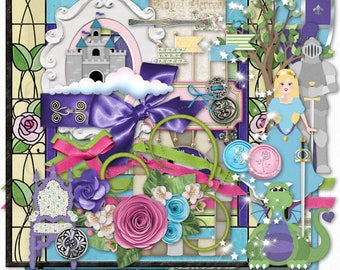 Princess Digital Scrapbook Elements