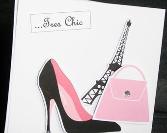 Handmade French style 'Chic' blank card