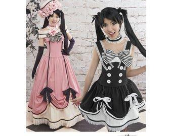 Black Butler Anime, Steampunk Dress Cosplay, Victorian Lolita Dress,Ruffles, Bows, Lori Ann Costume Design Sewing Pattern, Simplicity 8233