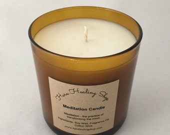 Meditation candle, organic soy candle,natural candle, soy candle