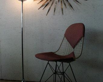 Vintage Stemlite Floor Lamp Bill Curry Lamp 1960s, Mid Century Modern Chrome Tulip Floor Lamp,