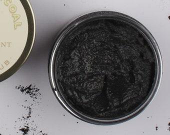 Activated Bamboo Charcoal Sugar Scrub - Tea Tree Essential Oil - Acne Sugar Scrub - Face Scrub