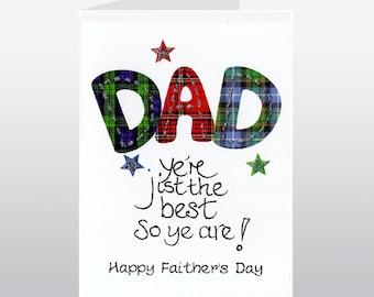 Fathers Day Tartan Words Card
