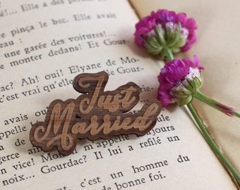 Badge - JUST MARRIED -