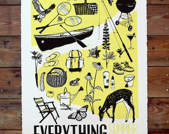 Berkshire Four Poster Everything Summer - Screen Printed